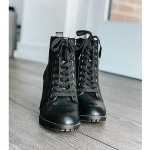 Combat Boots w/ Heel